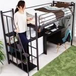 システムベッドの「上の段を収納にする」という方法はどう?