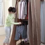 回転ハンガーでお洋服を大量収納!自宅をアパレル風収納に♪