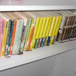 本棚の色がゴチャゴチャしてる・・・やっぱり隠す収納が一番?